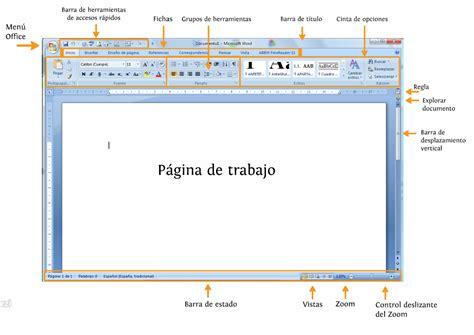 word  la interface de word curso de office