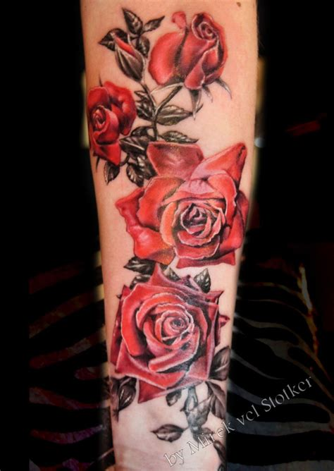 rose leaves tattoo roses with black and grey leaves by mirek vel