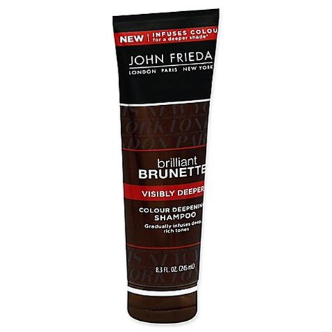 is john frieda morton in revitalizing in hand shoo good for grey hair john frieda brilliant brunette 174 visibly deeper 8 3 fl oz