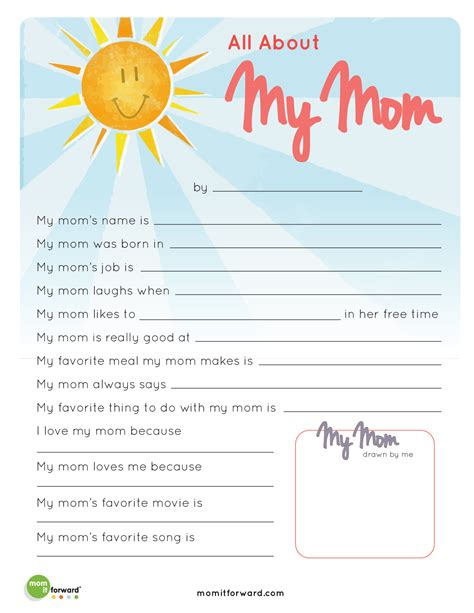mother s day all about my mom printable mom it