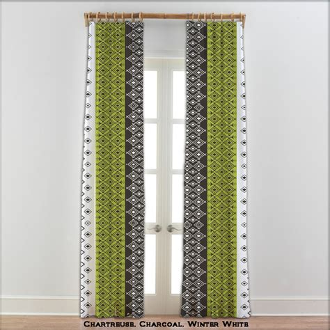 Green And Gray Curtains Ideas Moroccan Curtains In Charcoal Green And White 22 Other Colors