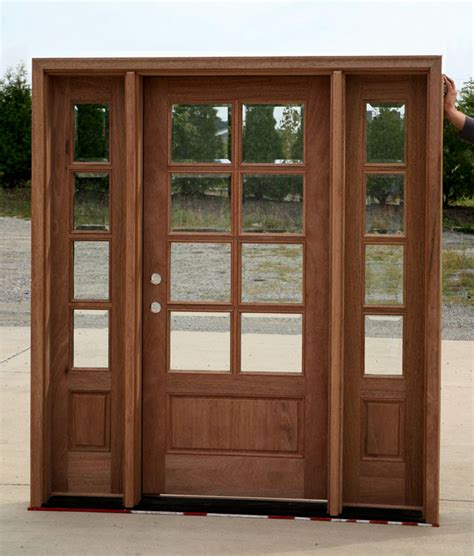 Setting The Door With Sidelights John Robinson House Decor Glass Entry Doors With Sidelights