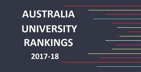 Distance Mba Rankings Australia by Rankings Of Australian Universities 2017 2018 Australia