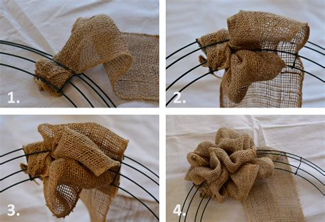 Printable Instructions To Make A Burlap Wreath | a burlap wreath that s loved by all redeem your ground