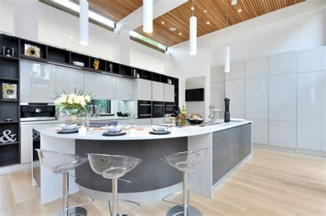 16 modern kitchen designs with curved kitchen island