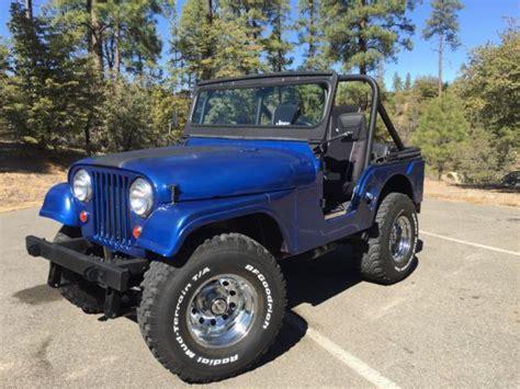 convertible jeep blue jeep cj5 1967 4x4 blue convertible 350 edelbrock v8