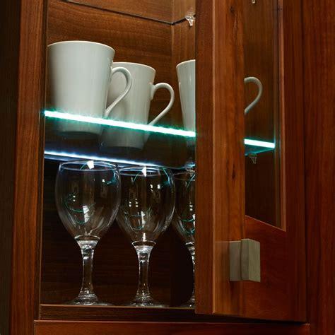 Led Glass Shelf Lighting by Edge Led Glass Shelf Light