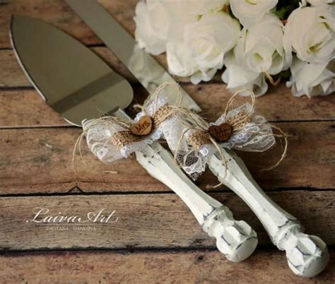 Wedding Cake Cutter by Rustic Wedding Cake Server Set Knife Cake Cutting Set