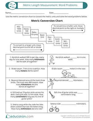 Metric Conversion Word Problems Worksheet With Answers Pdf