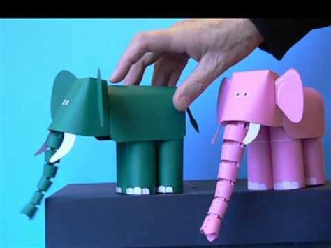 How To Make An Elephant Out Of Paper - paper elephant with trunk