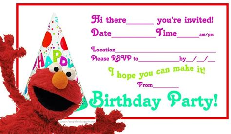 elmo birthday party invitations ideas bagvania free