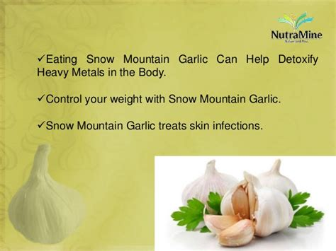 Garlic Detox Heavy Metals by Benefits Of Snow Mountain Garlic