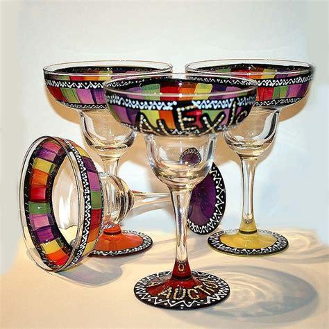 Handmade Margarita Glasses - pin by b s on glass