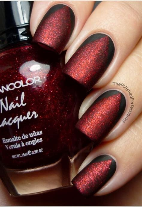cool red nail color 45 stylish red and black nail designs 2017
