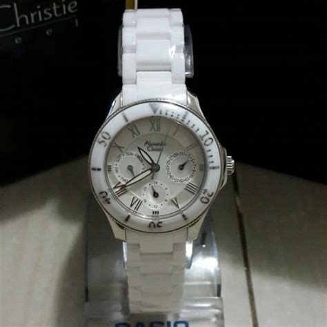 Alexandre Christie Ac 8512 Silver Gold Brown Original jam tangan alexandre christie 2476 bf ceramic silver white original alexandre christie