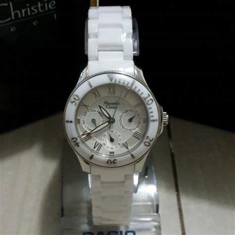 jam tangan alexandre christie 2476 bf ceramic silver white original alexandre christie