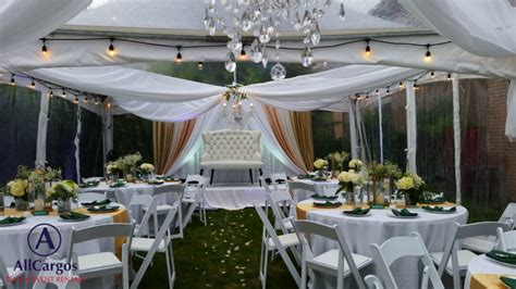 allcargos tent event rentals inc backyard wedding