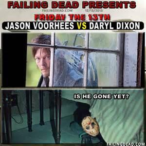 Meme Jason - jason voorhees vs daryl dixon failing dead