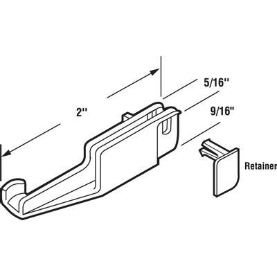 Kinkead Shower Door Parts M6090 2 Inch Sliding Shower Door Guide For Kinkead And