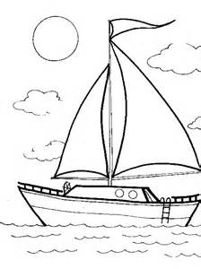 Sailboat Coloring Page  Clipartsco sketch template