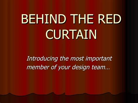 Quot Behind The Red Curtain Quot By Wkr