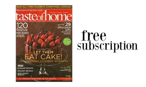 taste of home magazine free subscription southern savers