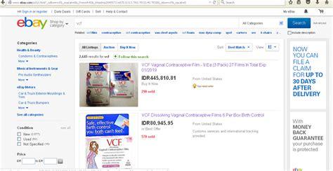 jual alat kontrasepsi modern vcf contraceptive ebay