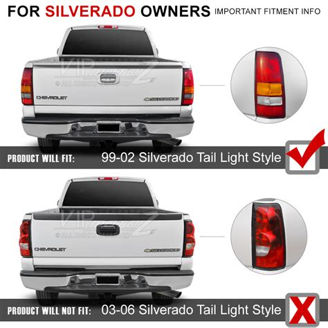 2002 chevy silverado tail lights 1999 2002 chevrolet silverado quot smoked quot led smd rear brake