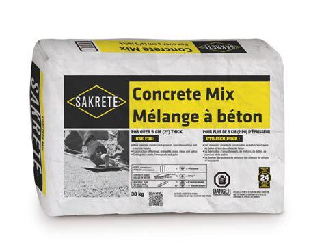 Quikrete Countertop Mix Canada by Sakrete Concrete Mix Gt King Home Improvement Products