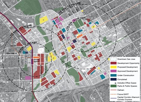 san jose development map a boom and a turning point for downtown san jose spur