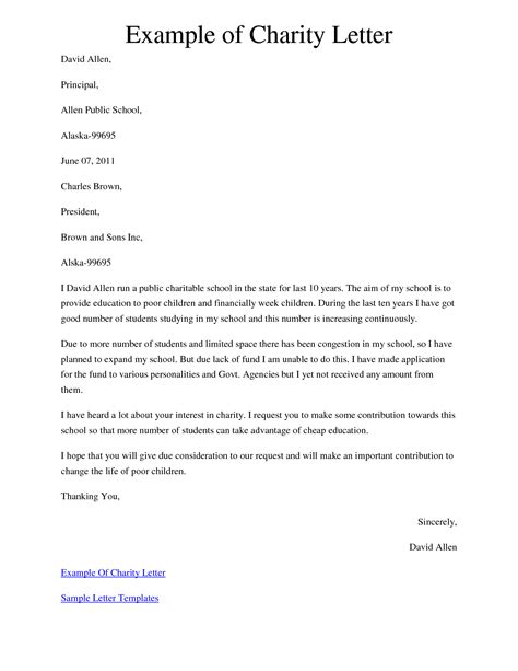 charity raffle letter template best photos of charitable donation letter template