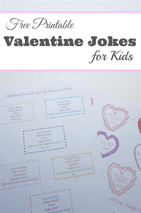 printable valentine jokes printable valentine s day jokes for kids