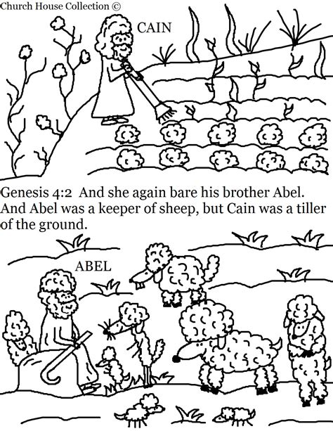 Cain And Abel Coloring Pages church house collection cain and abel coloring pages