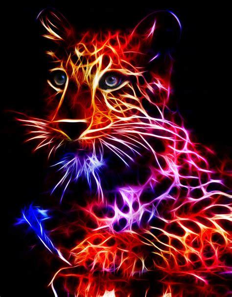 Kaos 3d Tiger Neon fractal tiger by minimoo64 on deviantart
