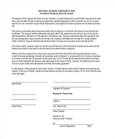 escrow letter sample beautiful escrow account agreement