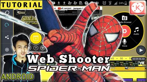 tutorial web shooter tutorial web shooter spiderman kinemaster youtube