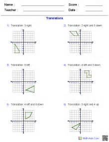 geometry worksheets transformations worksheets