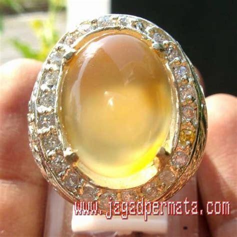 Paparaca Ring Alpaka king chalcedony golden supreme jual batu permata hobi permata