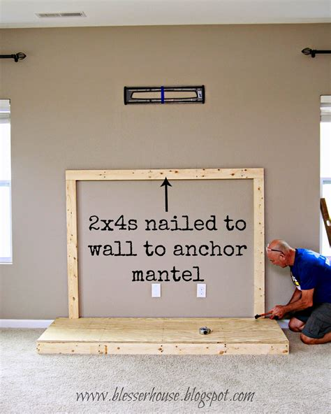 How To Build A Fireplace In Your Home diy faux fireplace entertainment center part one bless