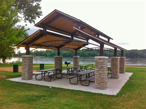 frontier shelters st charles parks  recreation