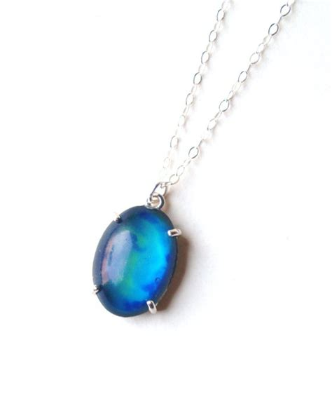 mood necklace colors mood necklace simple sterling silver with color changing