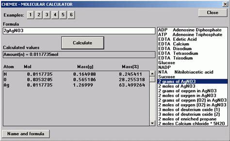 weight estimator molecular weight calculator software