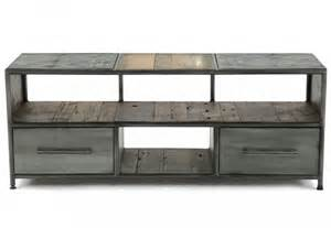 meuble tv bois metal artzein
