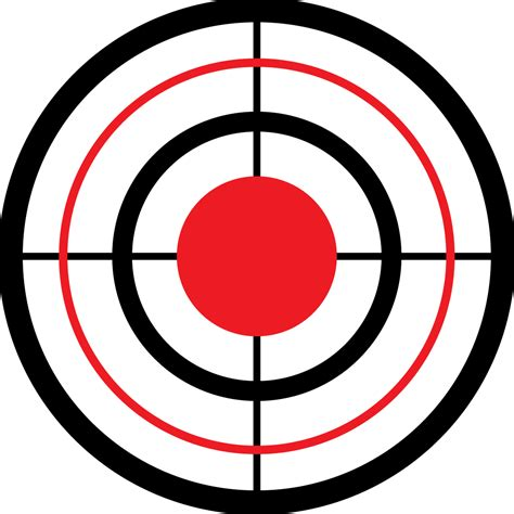 printable shooting targets bullseye bulls eye target clipart best