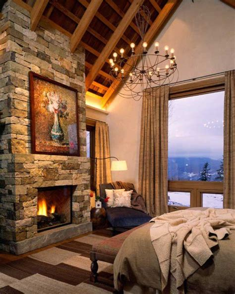 Bedroom Design Ideas With Fireplace 22 Inspiring Rustic Bedroom Designs For This Winter
