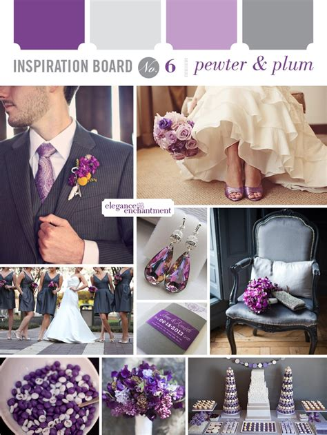 purple and silver make a glamorous combination in the purple grey wedding colour scheme ideas for annie mike