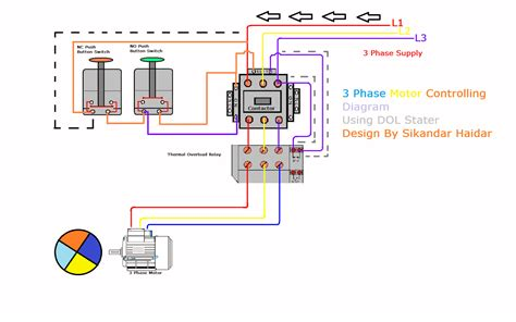 3 phase dol starter wiring diagram 34 wiring diagram
