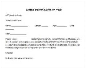 doctor note template free sle doctor note template 19 free documents in pdf word
