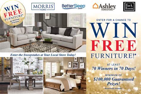 free sofas give away win furniture morris home dayton cincinnati columbus