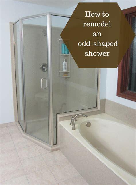 remodel  odd shaped custom shower enclosure